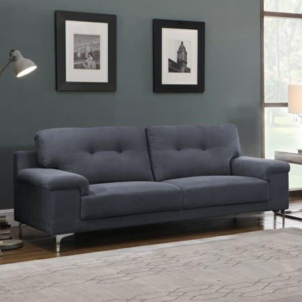Триместен диван с модерна визия Ноел - тъмносив цвят