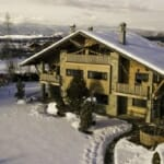 Villa Chalet Everest през зимата -панорамна гледка