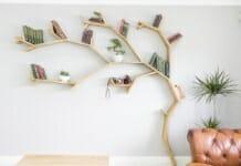 идеи за етажерки за стена: Етажерка дърво