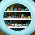 Етажерка от рециклирана автомобилна гума