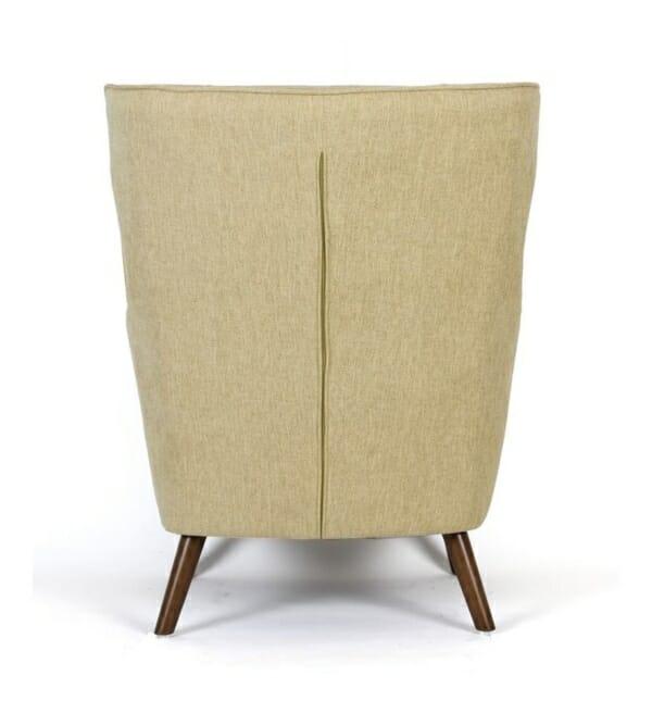 Фотьойл с текстилна дамаска и държени крачета (2 цвята) - отзад