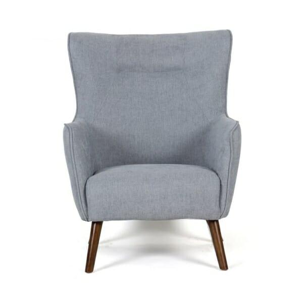Фотьойл с текстилна дамаска и държени крачета (2 цвята) - сив