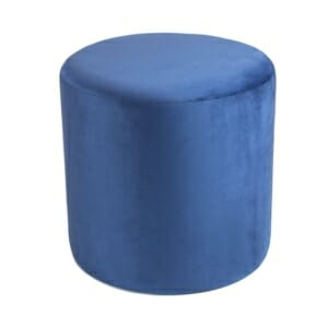Текстилна табуретка с овална фрма в син или зелен цвят