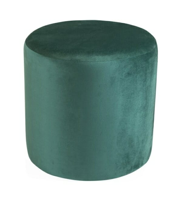 Текстилна табуретка с овална фрма в син или зелен цвят - зелен