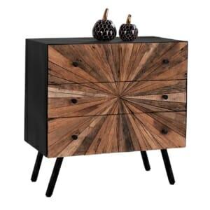 Дървен скрин с 3 чекмеджета серия Нотико
