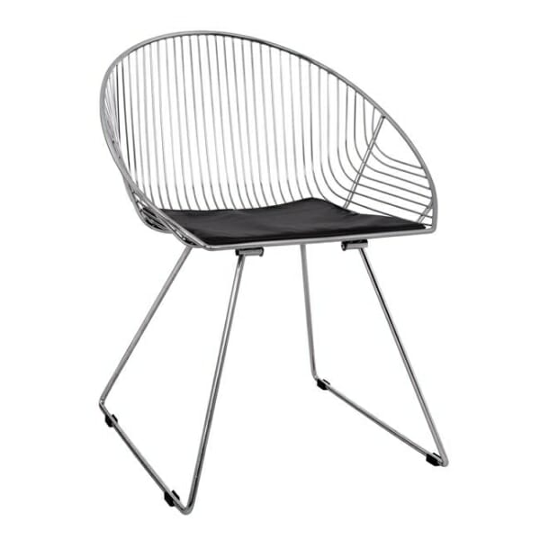 Дизайнерски стол от метал с овална форма хром
