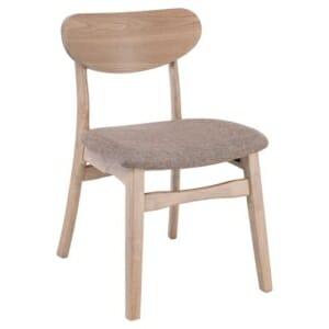 Дървен стол в цвят опушен бук с тапицирана седалка