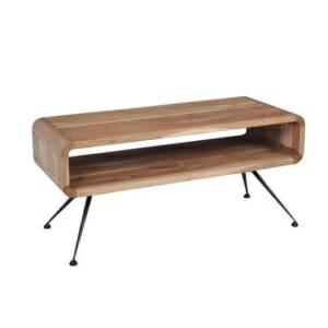 Дървена холна маса с футуристична визия