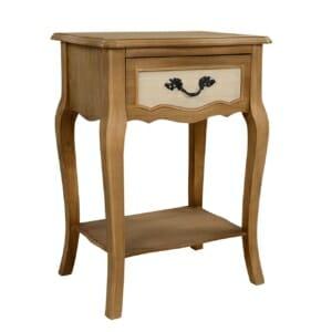 Елегантно нощно шкафче с чекмедже и рафт серия Амилия