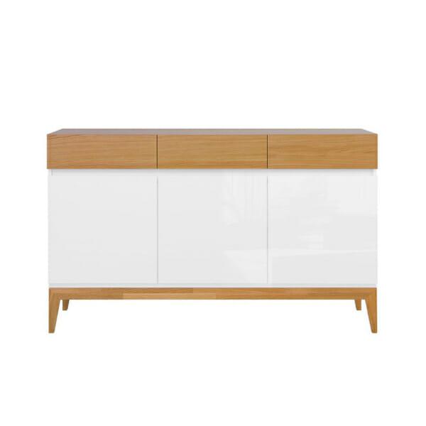 Функционален шкаф с 3 чекмеджета и 3 вратички Киото - отпред