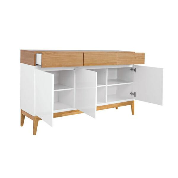 Функционален шкаф с 3 чекмеджета и 3 вратички Киото - разпределение
