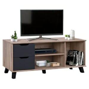 Функционален ТВ шкаф с две чекмеджета и три рафта