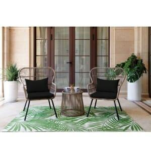 Градински сет от 2 кресла и кръгла масичка Белла
