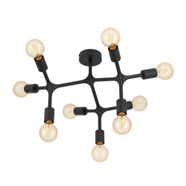 Метален плафон в черен цвят bocadella 1 (3 варианта) - вариант 2