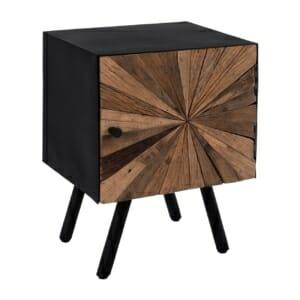 Нощно шкафче от дърво и метал серия Нотико