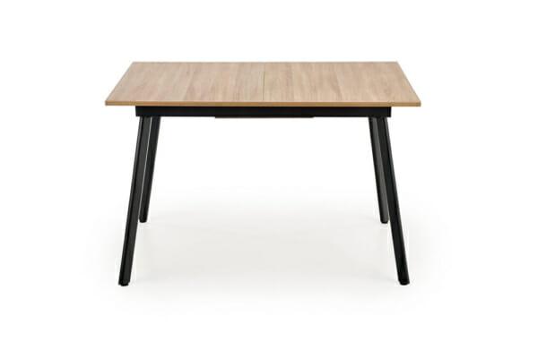 Разтегателна трапезна маса с плот като дърво и бетон - отпред