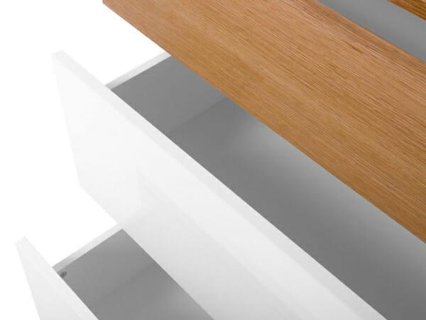 Скрин с 3 чекмеджета в скандинавски стил Киото - детайл