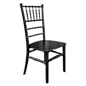 Стилен трапезен стол от полипропилен в черно