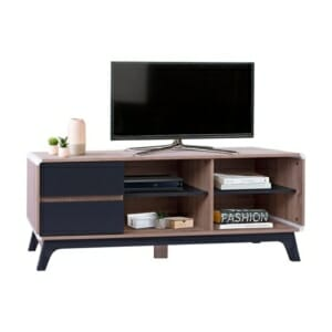 ТВ шкаф с две чекмеджета и два рафта