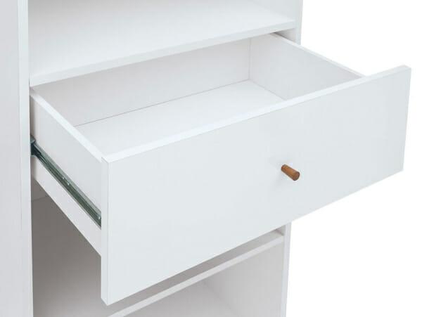 Висок шкаф витрина с 5 рафта и чекмедже Хеда - детайл чекмедже