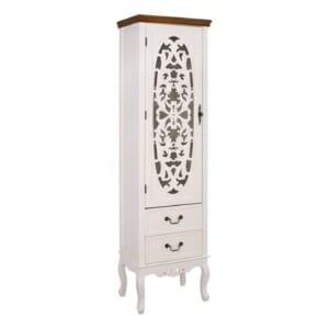 Висок шкаф витрина с оригинална декорация серия Паскал