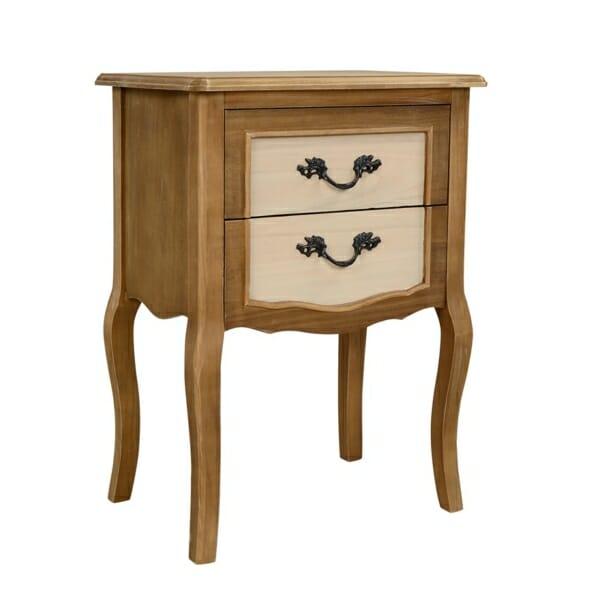 Високо нощно шкафче с две чекмеджета серия Амилия