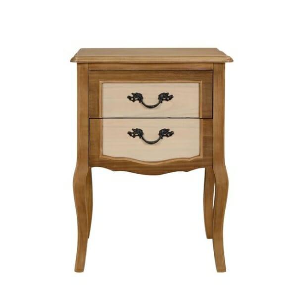 Високо нощно шкафче с две чекмеджета серия Амилия отпред