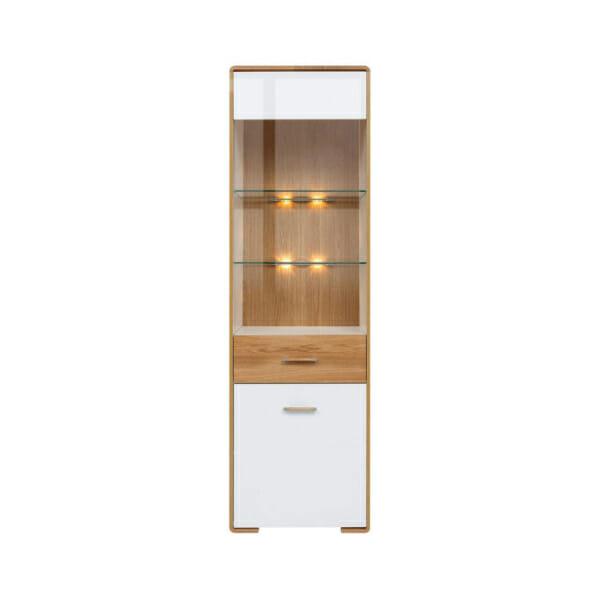 Шкаф витрина с вградено осветление и леви панти Бари - отпред