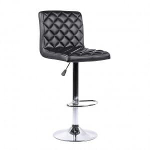Бар стол от еко кожа и метална основа