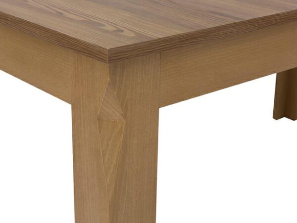 Дървена трапезна маса с правоъгълен разтегателен плот Берген - детайл