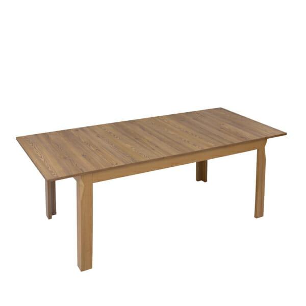 Дървена трапезна маса с правоъгълен разтегателен плот Берген - отгоре