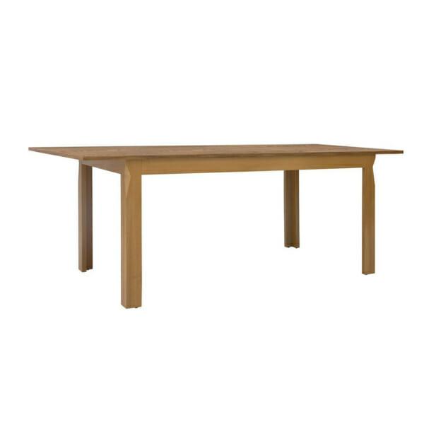 Дървена трапезна маса с правоъгълен разтегателен плот Берген - разтегната