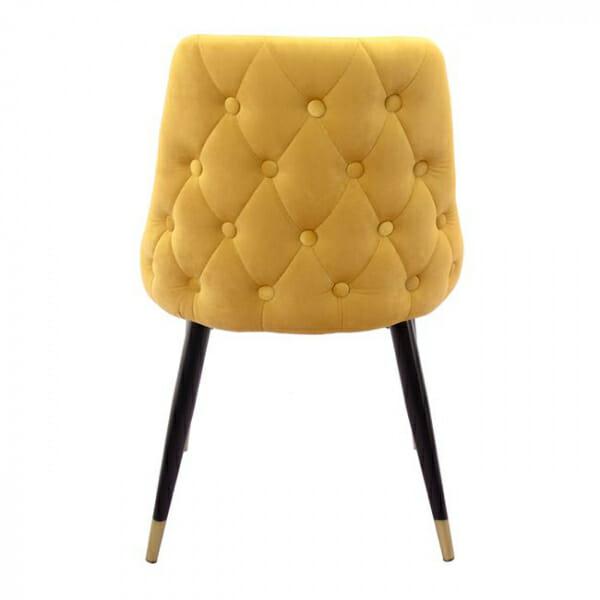 Елегантен стол с дамаска от кадифе и златни детайли-гръб