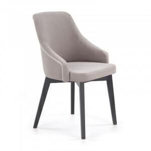 Елегантен трапезен стол с държени крака в цвят графит