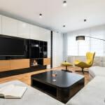 Акцентни мебели в модерен апартамент