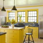 Жълта кухня в кънтри стил - John Gruen