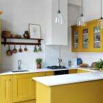 Жълти кухненски шкафове - Lonika Chande