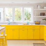 Кухня с жълти шкафове - Alys Design