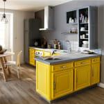 Кухня в жълто и сиво - Femme Actuelle