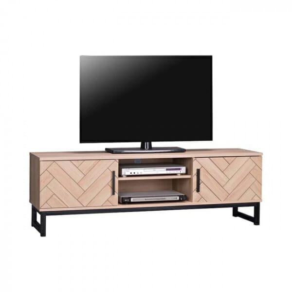 Модерен ТВ шкаф с 2 рафта и 2 шкафчета серия Алана