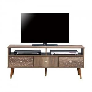 Практичен ТВ шкаф с два рафта и три шкафчета серия Шани