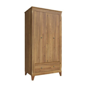 Стилен двукрилен гардероб с чекмедже Берген
