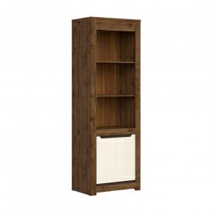 Висок шкаф с открити рафтове и вратичка Русо