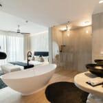 Апартамент във вила Чинка на Св.Константин и Елена-спалня с вана