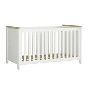 Бебешка кошара в бяло и дървесен цвят Древизо