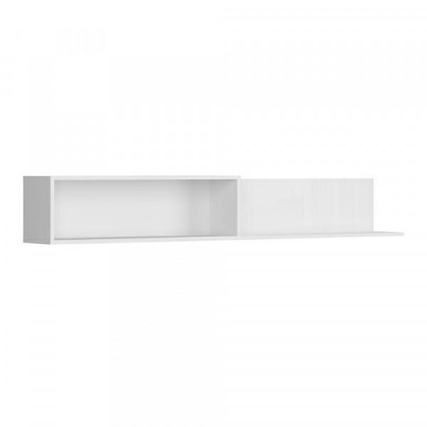 Бял стенен рафт с преграда Флеймс