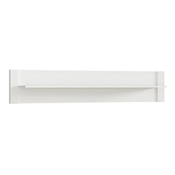 Бял стенен рафт със заден панел Древизо