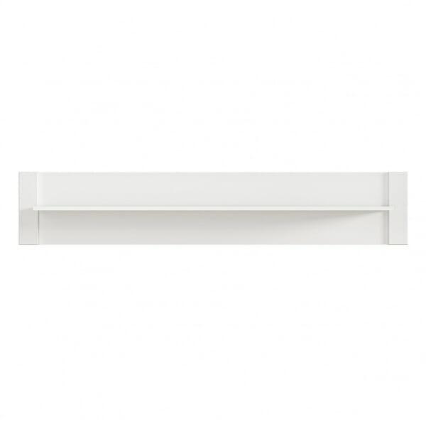 Бял стенен рафт със заден панел Древизо - отпред