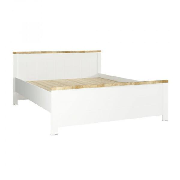 Бяло легло с детайли в дървесен цвят Древизо