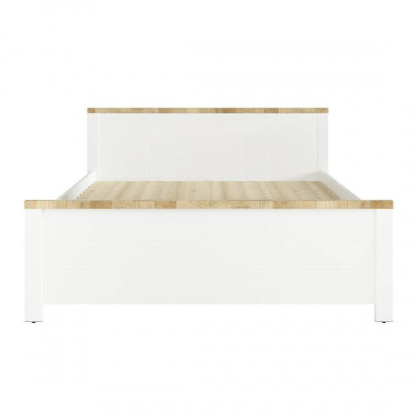 Бяло легло с детайли в дървесен цвят Древизо - отпред